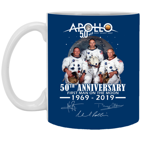 Apollo - First Man On The Moon White Mug