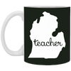 Image of 5,Michigan Teacher Outing Cool Motivational Country White Mug