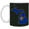 Image of 14,Michigan Flag Map White Mug