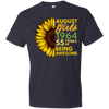 Image of 43,August Girl 1964 55 Years Awesome Sunflower Anvil Lightweight T-Shirt 4.5 oz