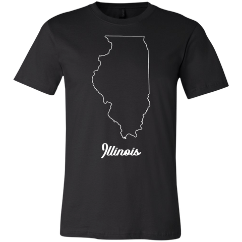 1,Illinois map Bella + Canvas Youth Jersey Short Sleeve T-Shirt