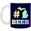 Image of 32,Michigan Beer Hashtag Pound Craft Ipa Lover Home White Mug