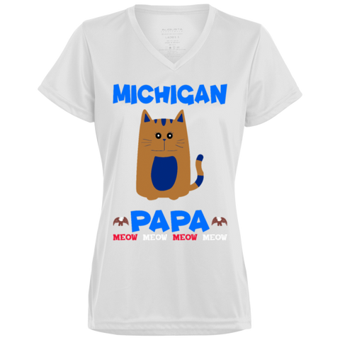 86,Michigan Papa T-shirt Mug Pillow Gift 1790 Augusta Ladies' Wicking T-Shirt