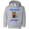 Image of 86,Michigan Papa T-shirt Mug Pillow Gift Rabbit Skins Toddler Fleece Hoodie
