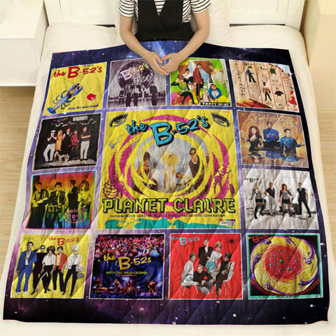 The B-52's Albums Quilt Blanket