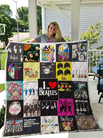 The Beatles Band Quilt Blanket