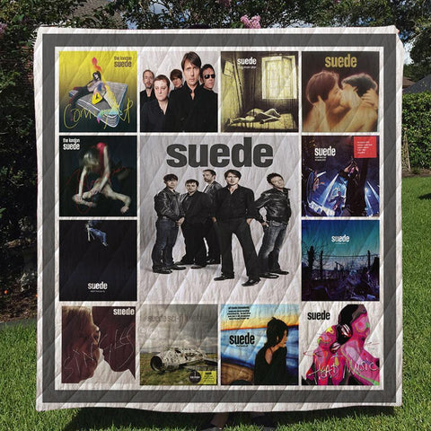Suede Band Quilt Blanket