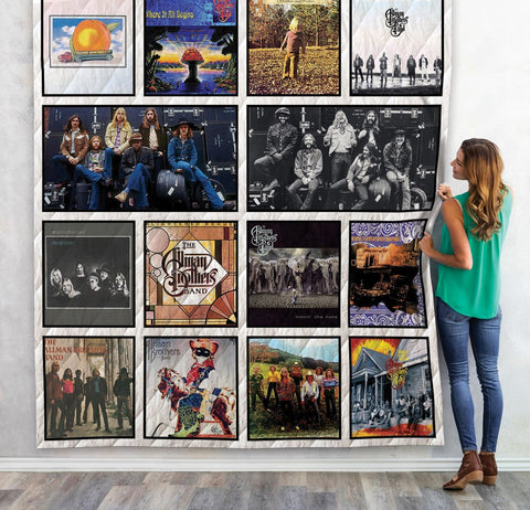 The Allman Brothers Band Albums Quilt Blanket 02