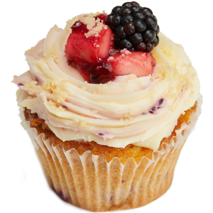 Blackberry crumble cupcake
