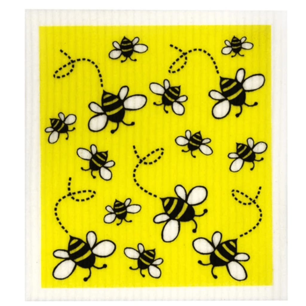 Retro Kitchen Dish Cloth - Bees