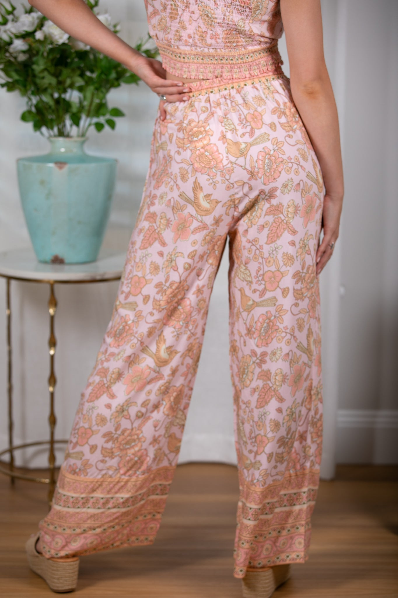 Misty Pants in Peach