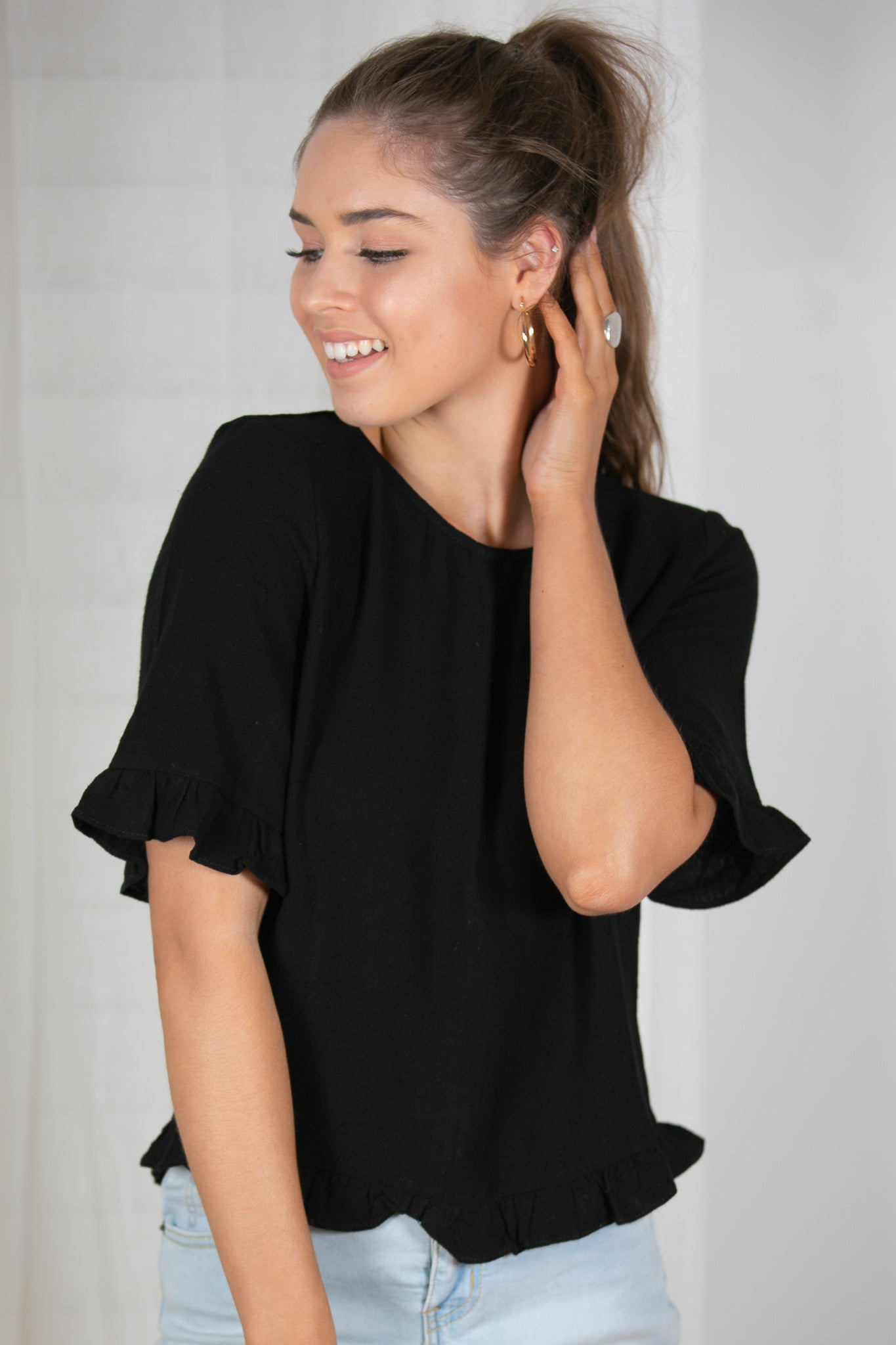 Everly Top in Black