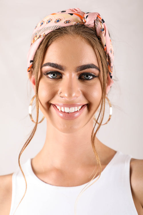 Blush printed headscarf