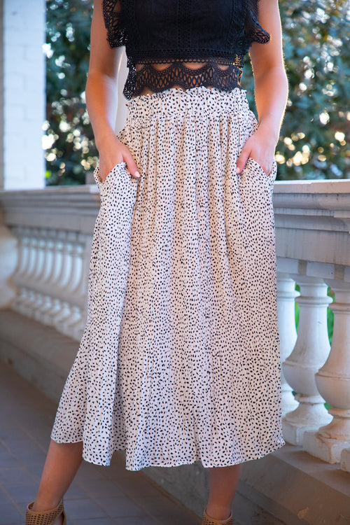 Freda Skirt in White