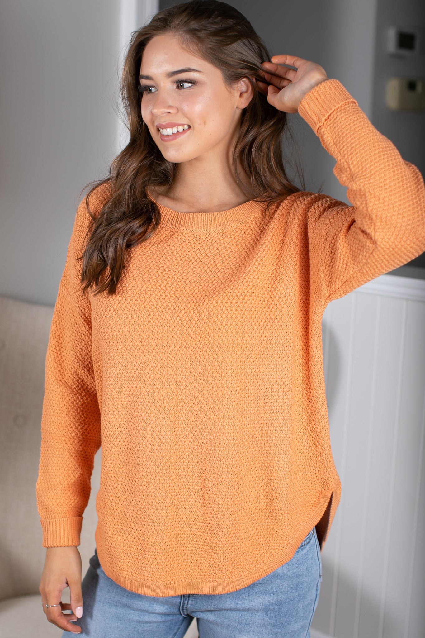 Rachelle Jumper in Orange