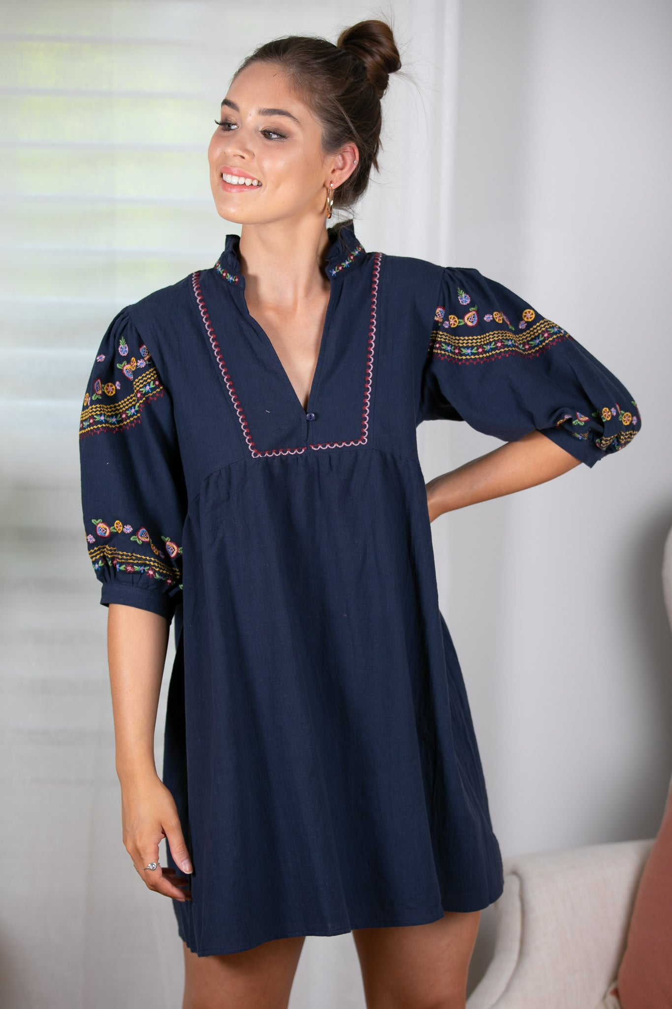 Nancy Dress in Navy