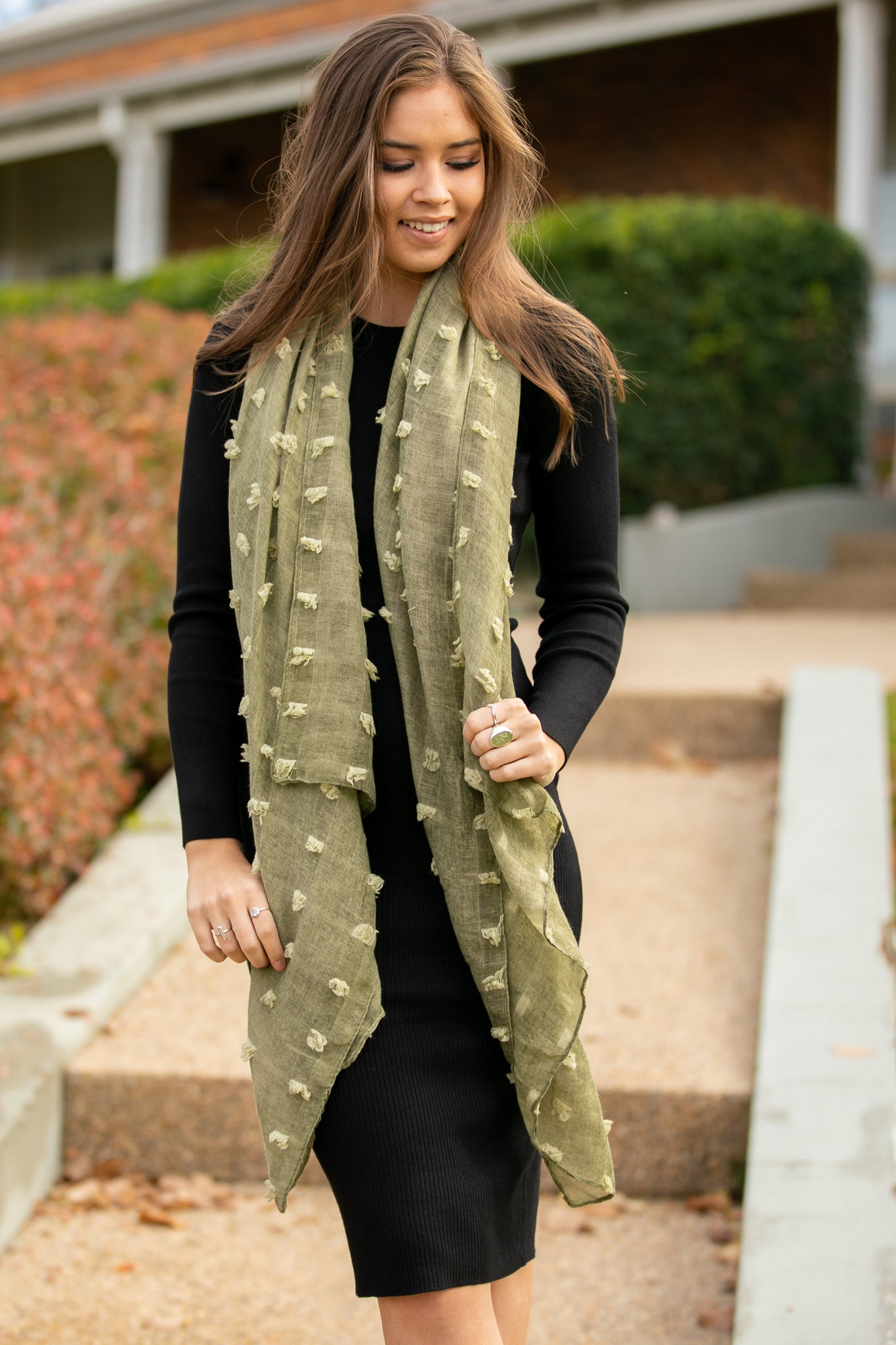 Ophelia Scarf in Olive