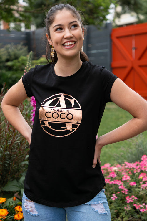 Coco Tee in Black