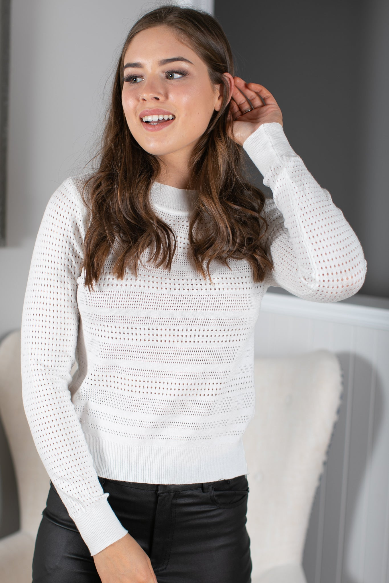 Tiff Jumper in White