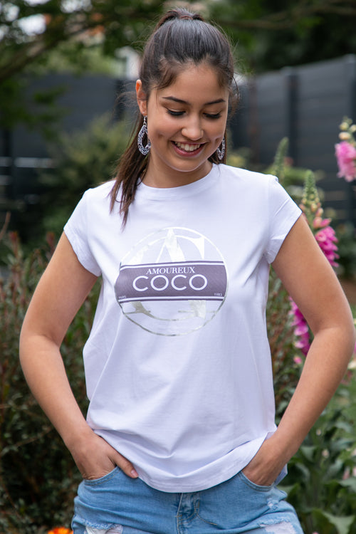 Coco Tee in White