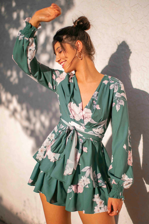 Matilda Playsuit in Sage