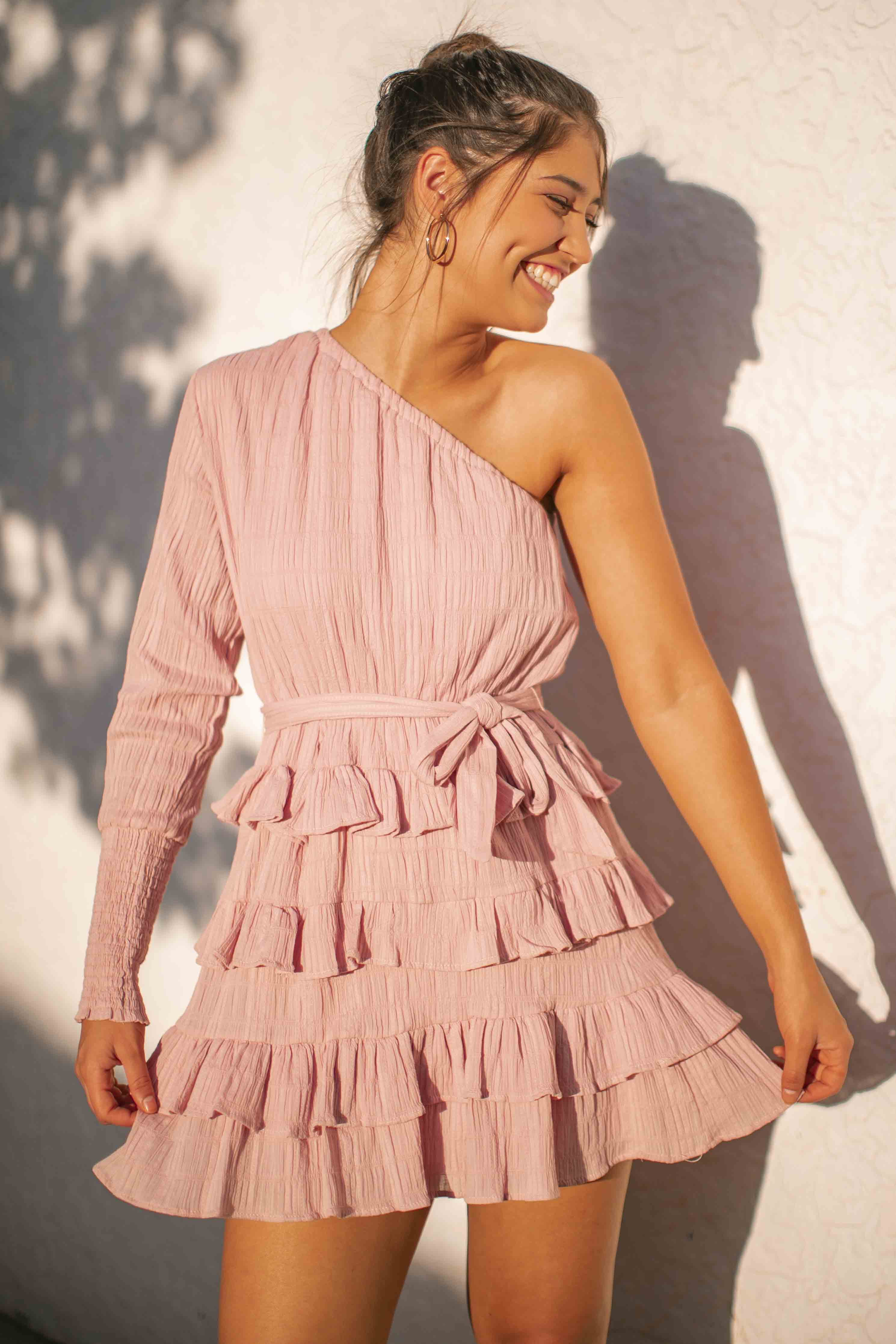 Kasey Dress in Blush