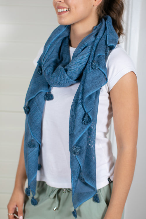 Willow Scarf in Blue