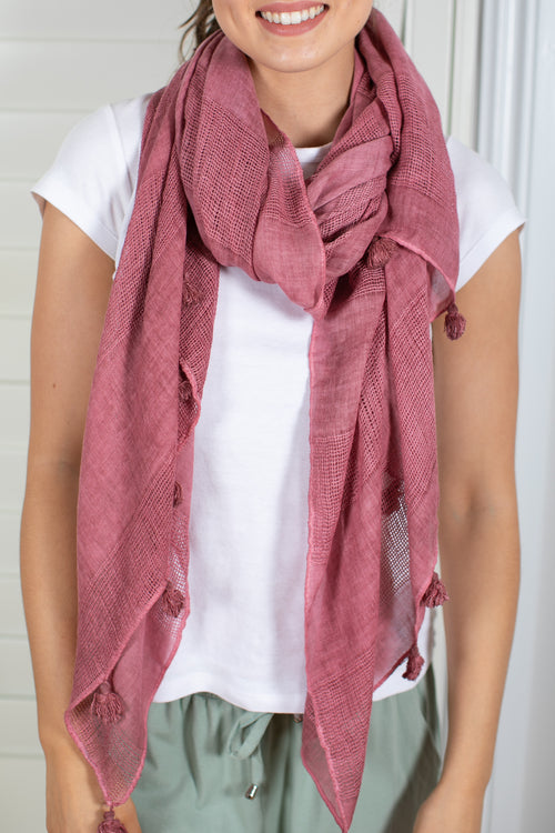 Willow Scarf in Rose
