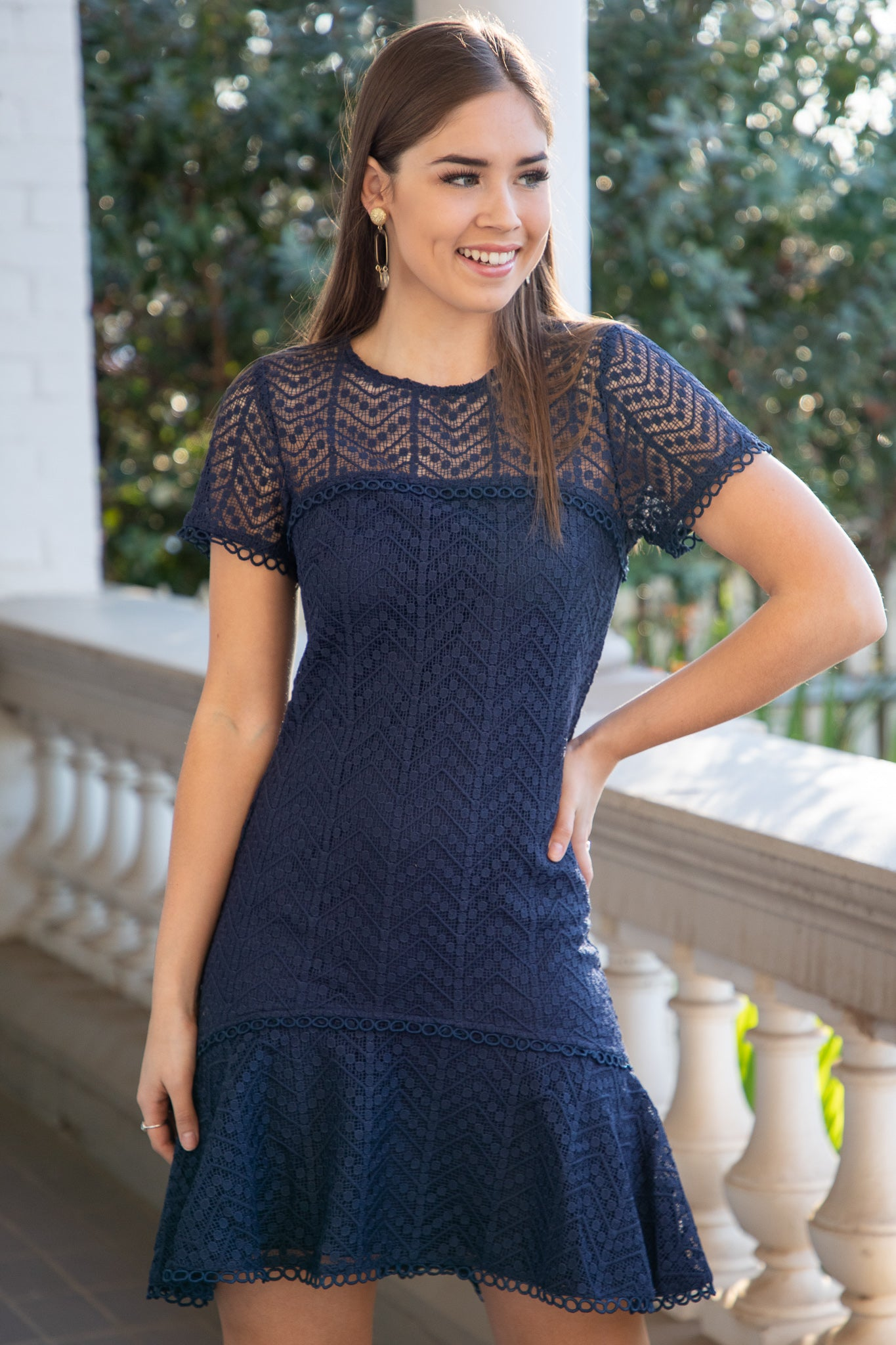 Lara Dress in Navy