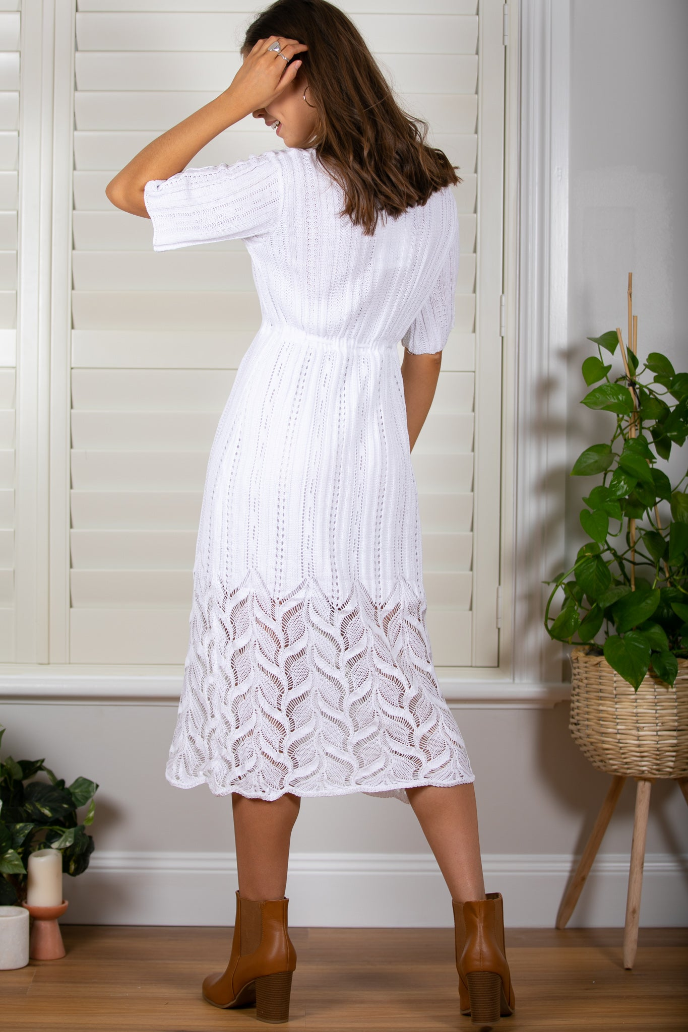 Estelle Dress in White