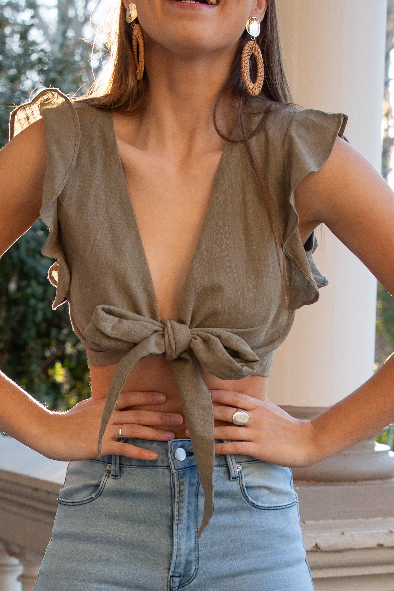 Maddison Top in Khaki