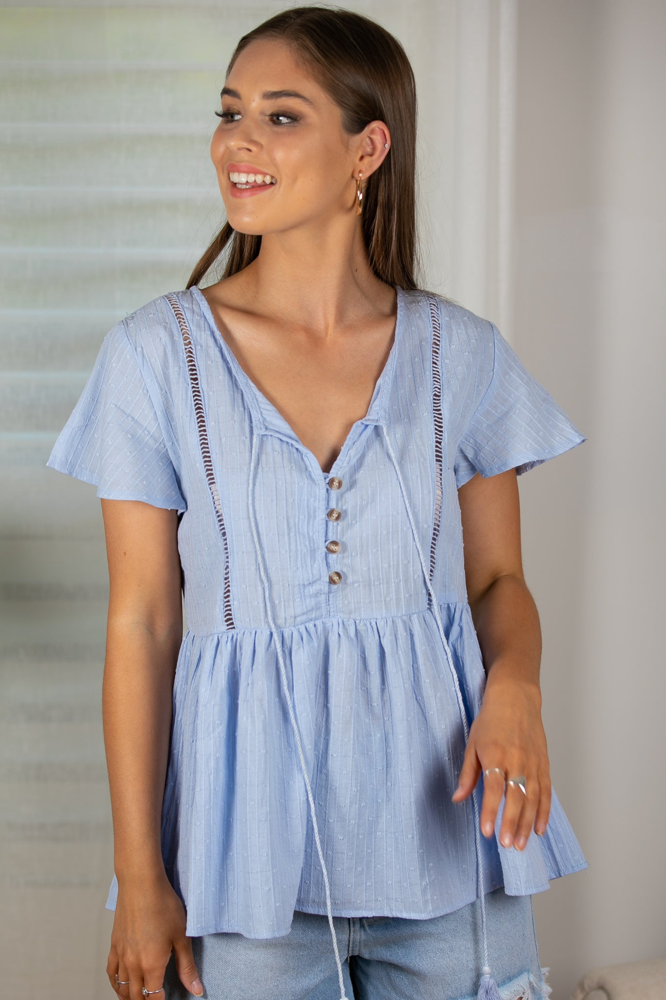 Cova Top in Baby Blue