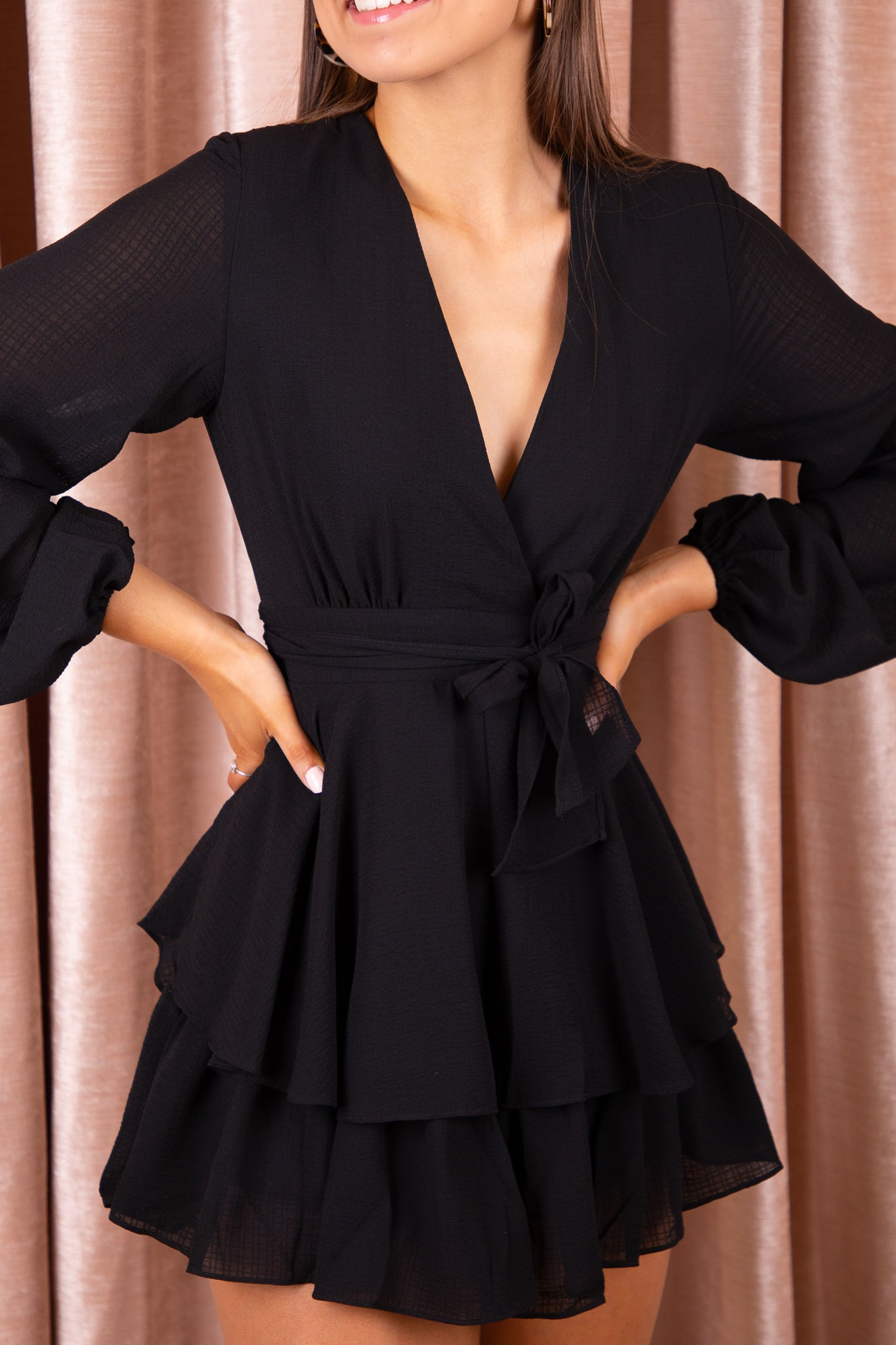 Kennedy Playsuit in Black