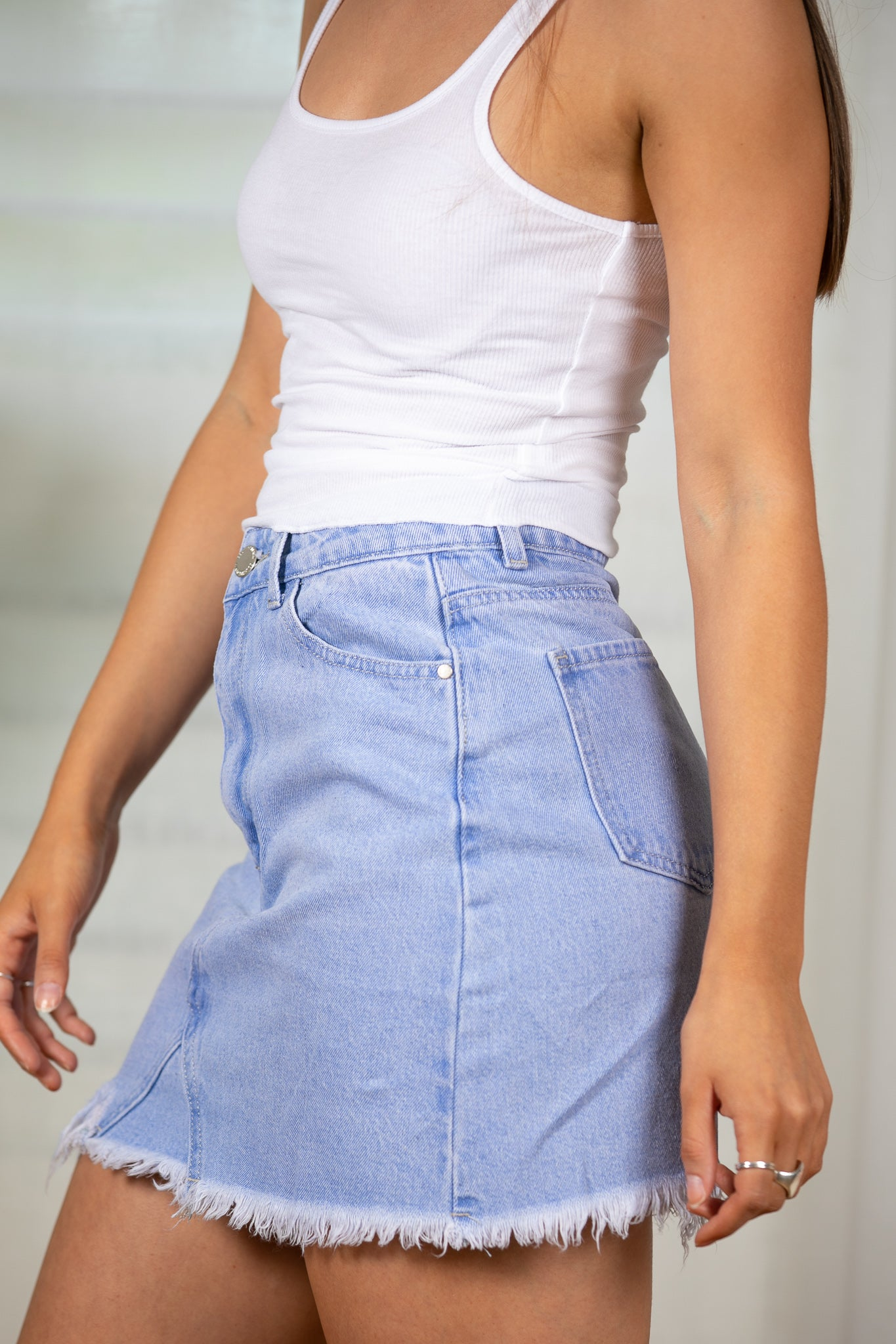 Greta Skirt in Denim