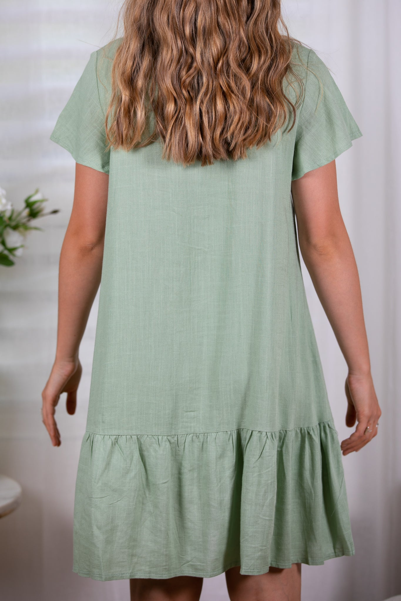 Esther Dress in Pistachio