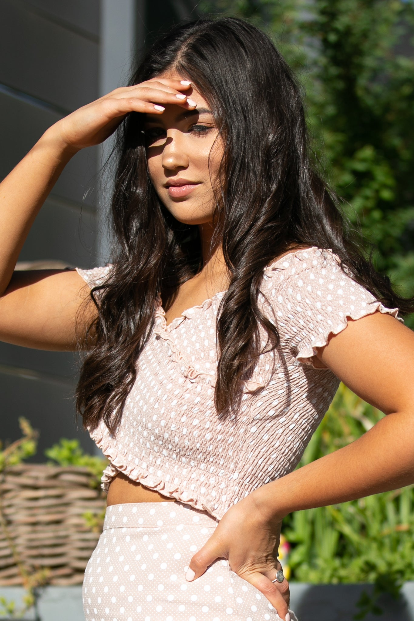 Cleo Top in Blush