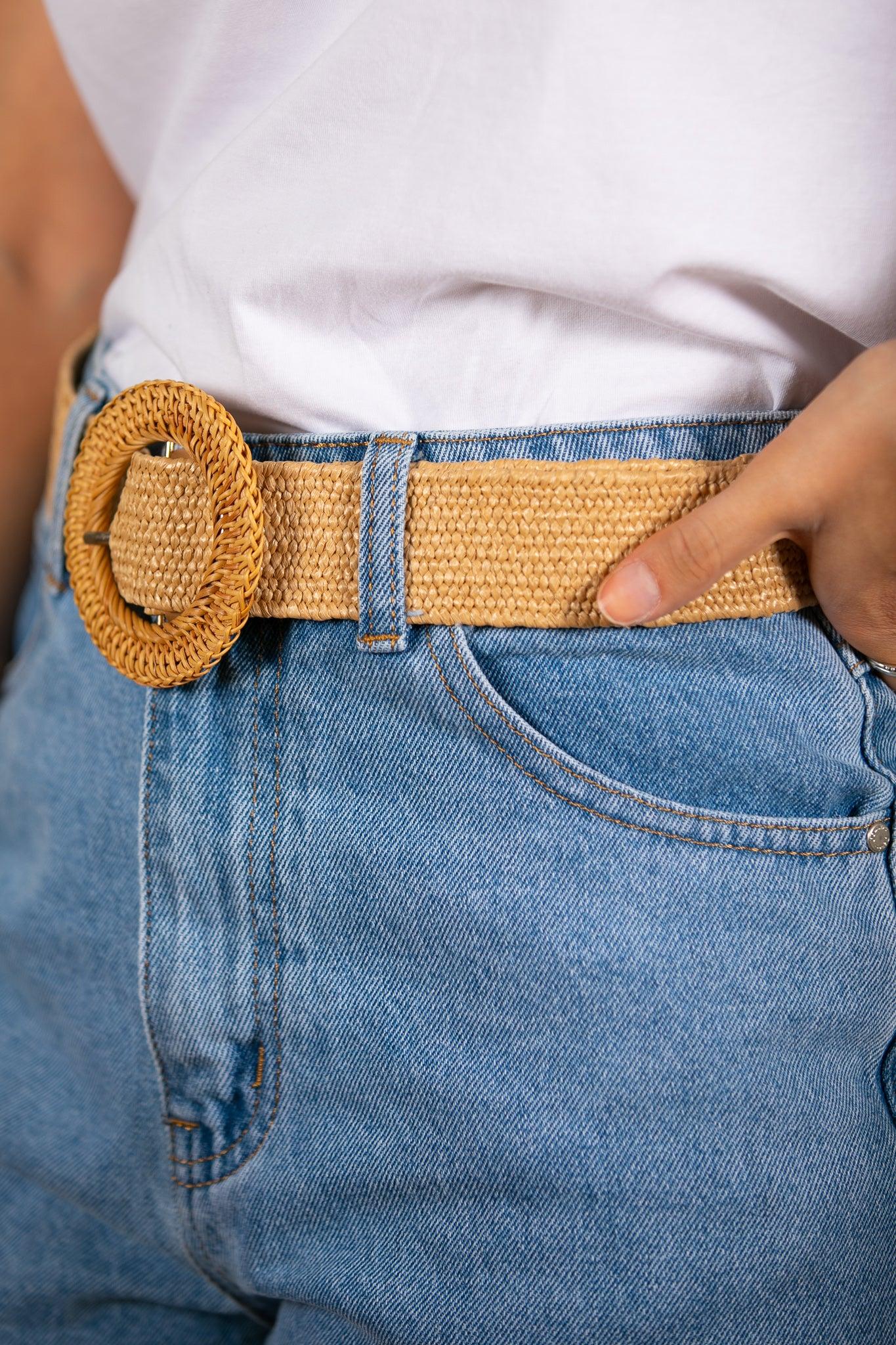 Ceba Belt in Tan