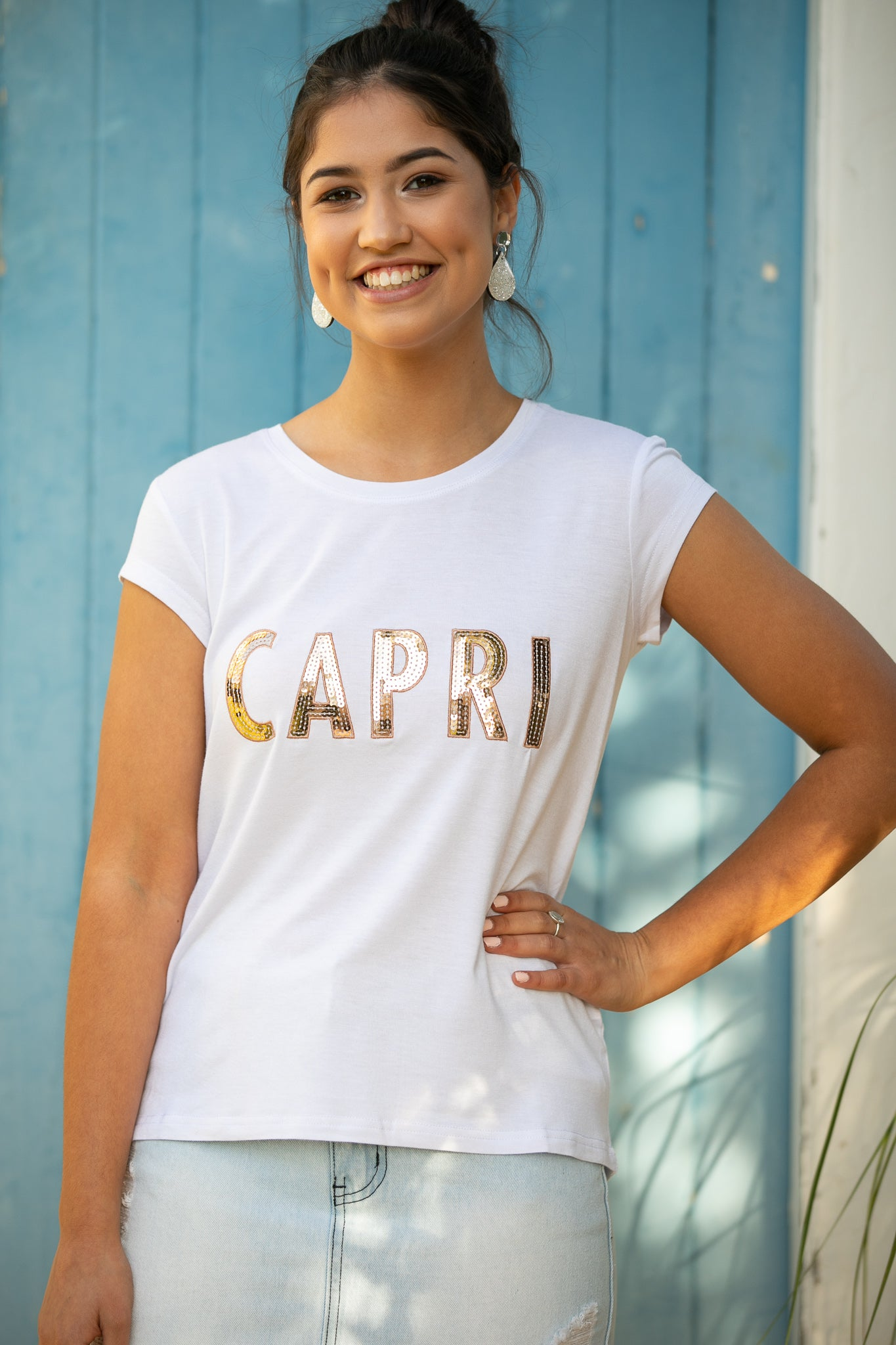 Capri Tee in White