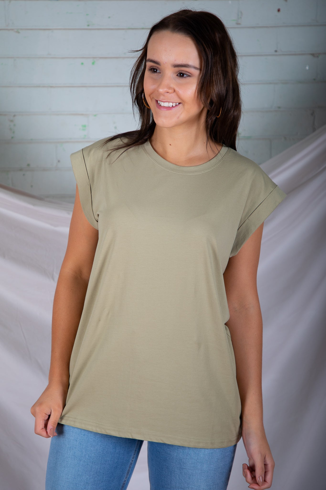 Rory Tee in Light Khaki