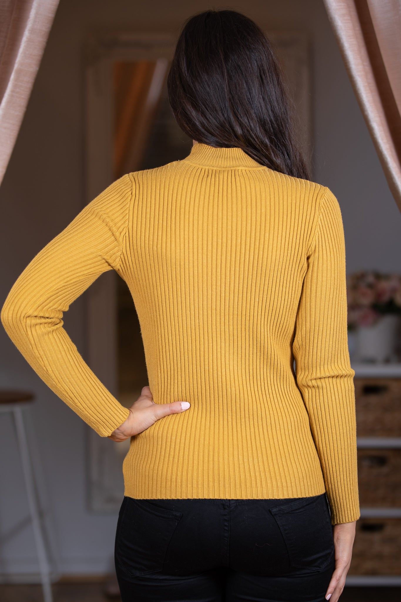 Zoe Jumper in Mustard