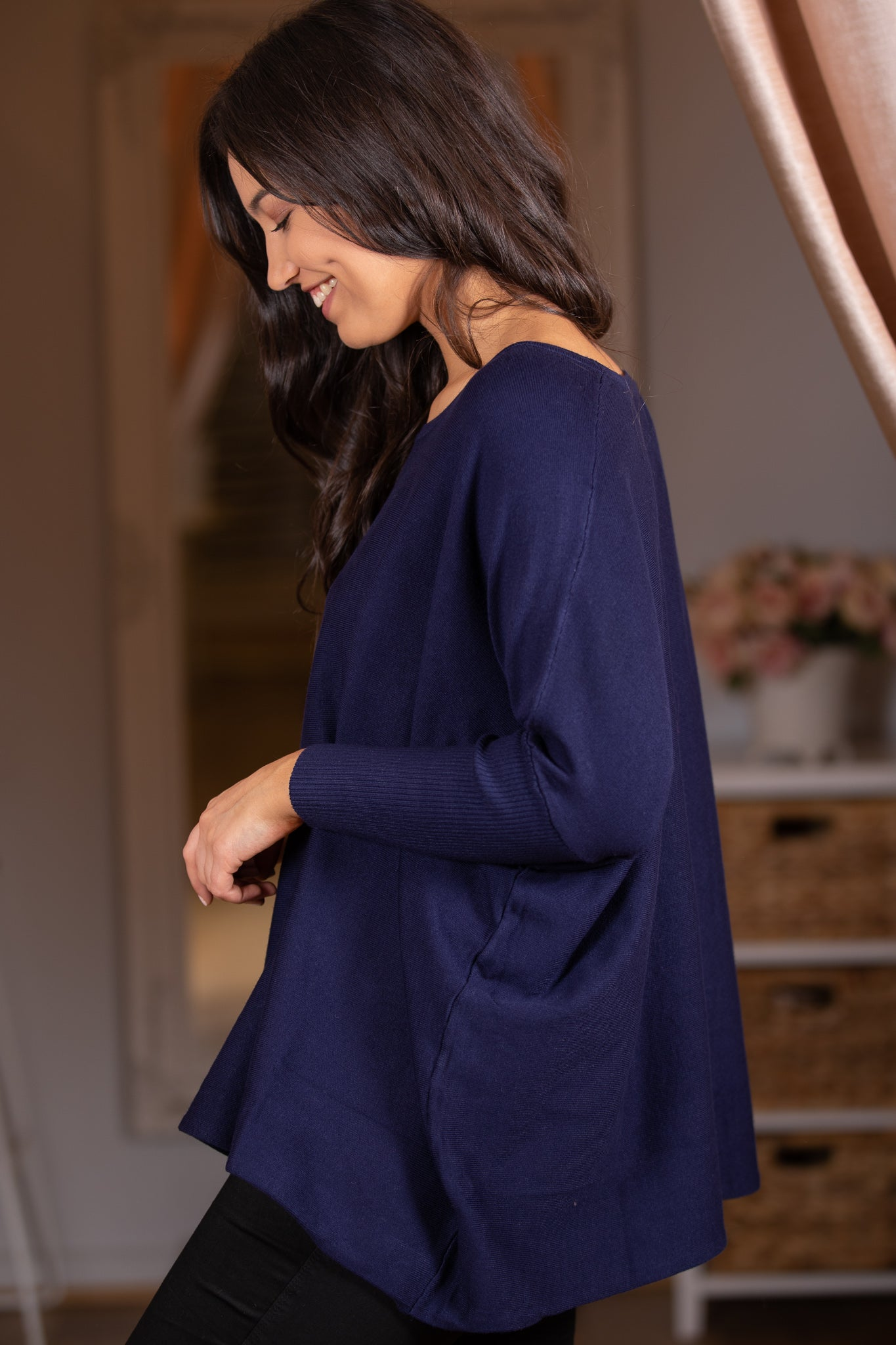 Emmerson Top in Navy O/S