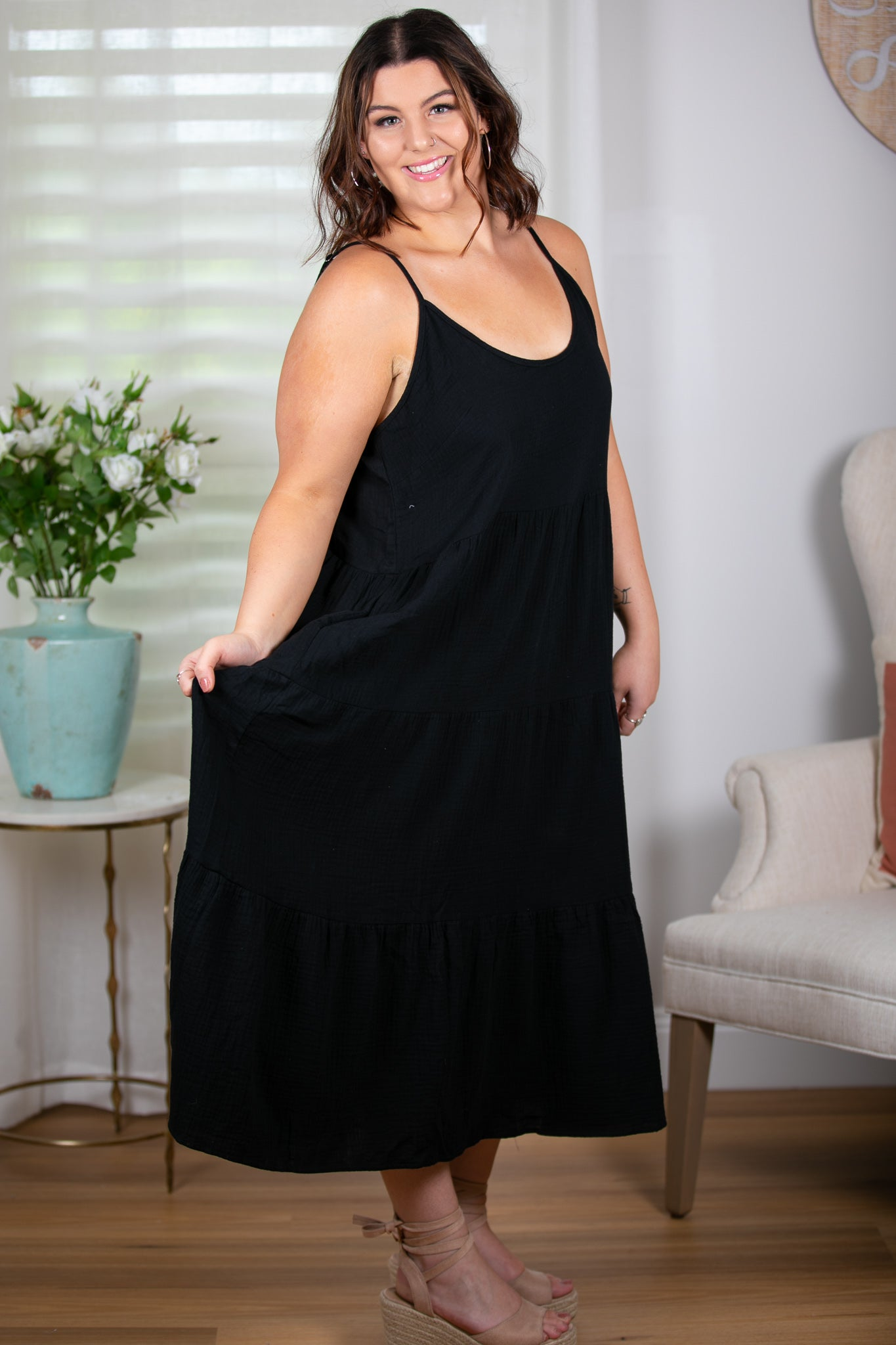 Pippa Dress in Black