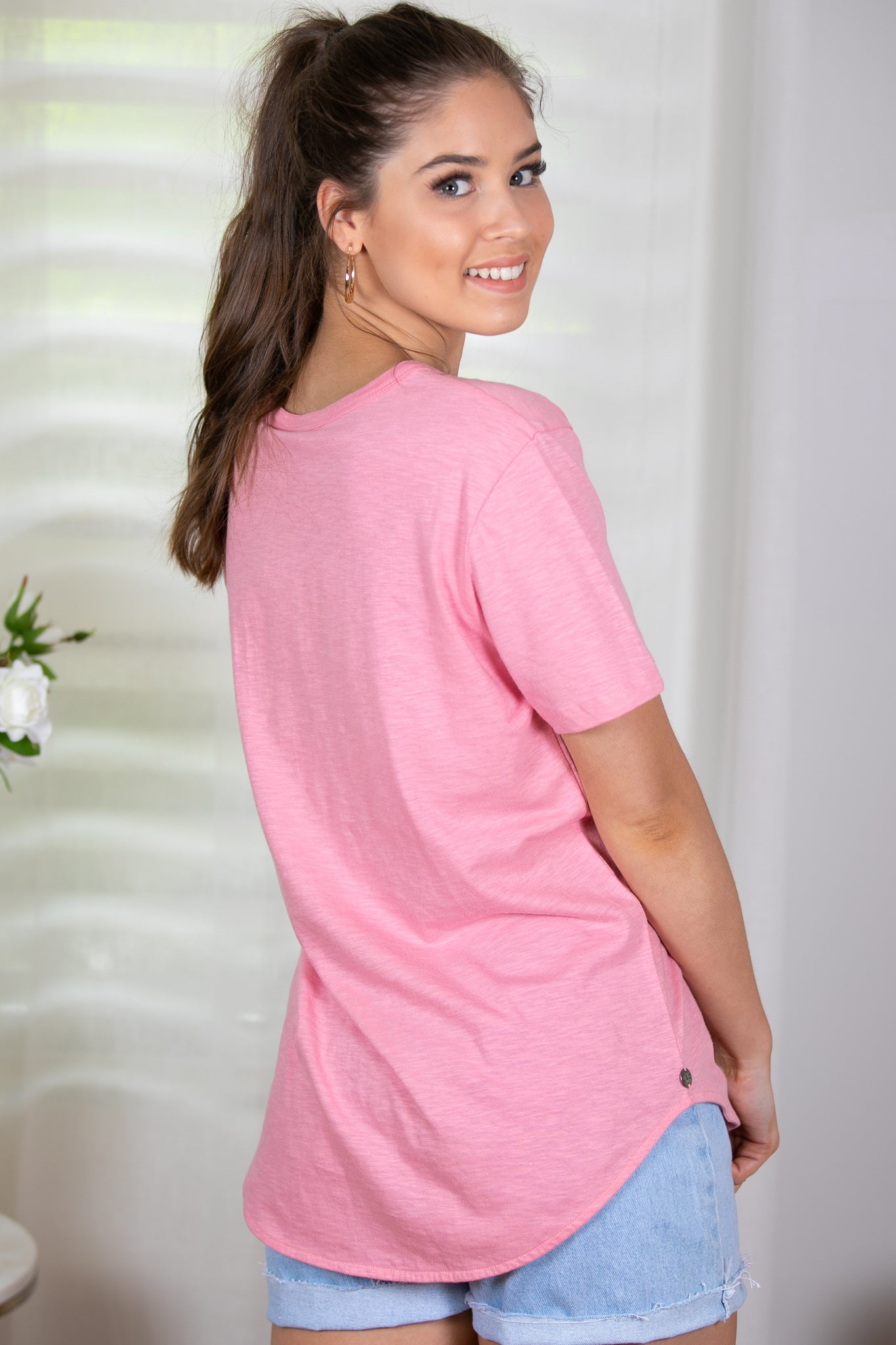 Gypsy Tee in Rose