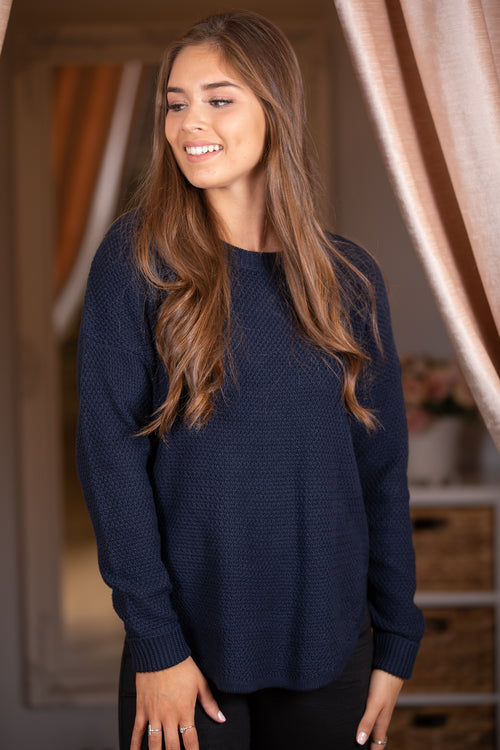 Rachelle Jumper in Navy