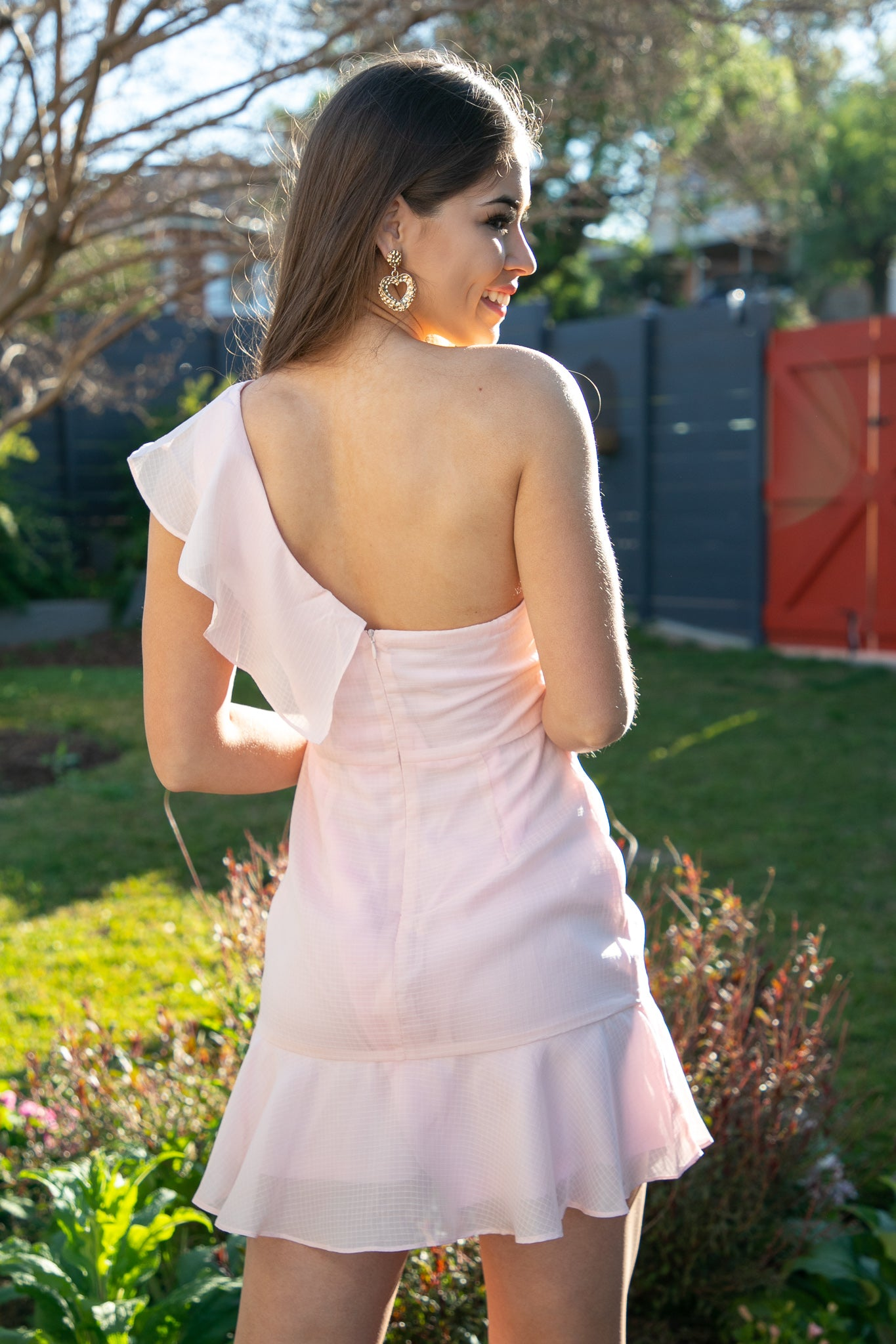 Evie Dress in Blush