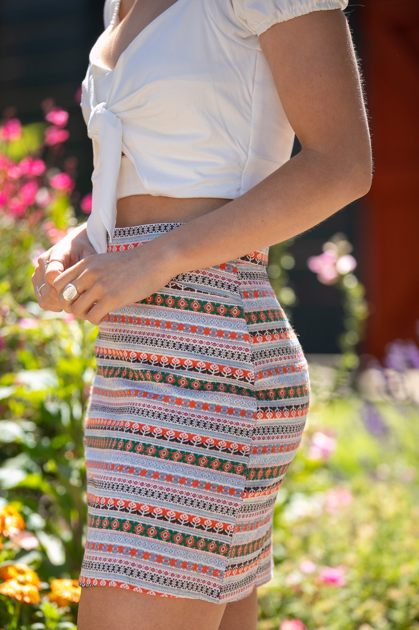 Claire Skirt in Multi