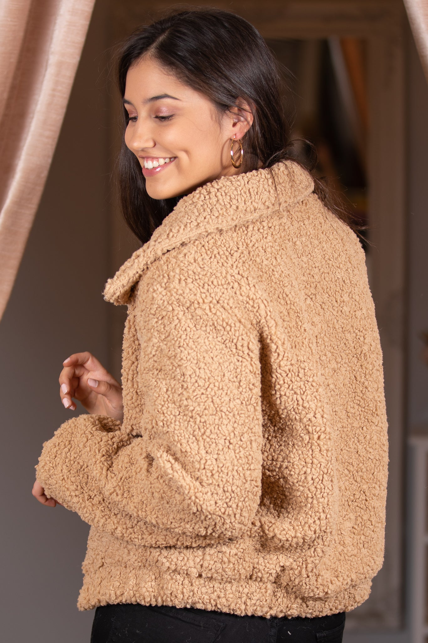 Sierra Teddy Jacket in Mocha