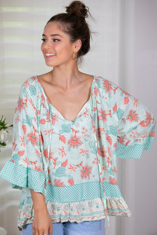Evalyn Top in Mint