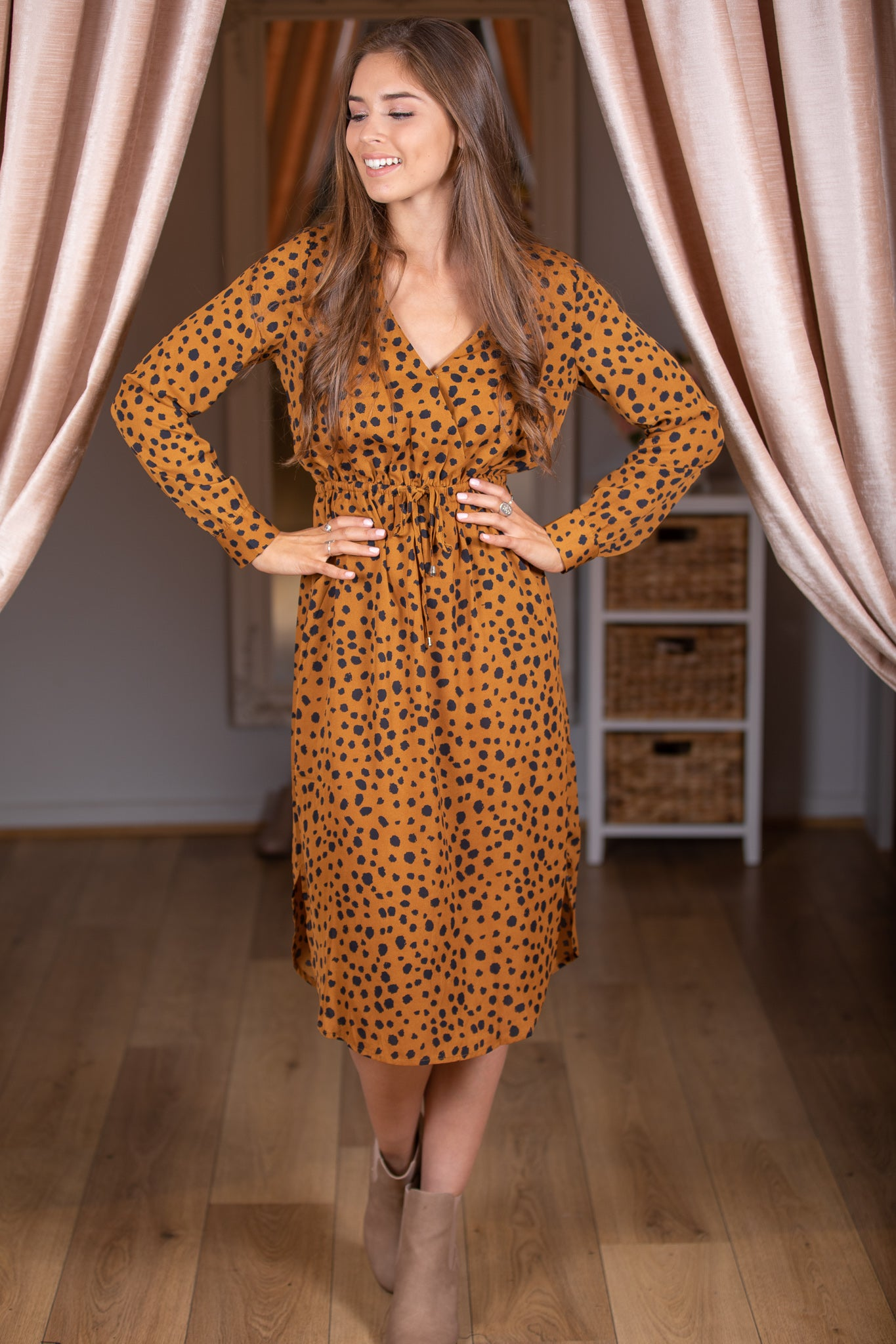 Laura Dress in Mustard