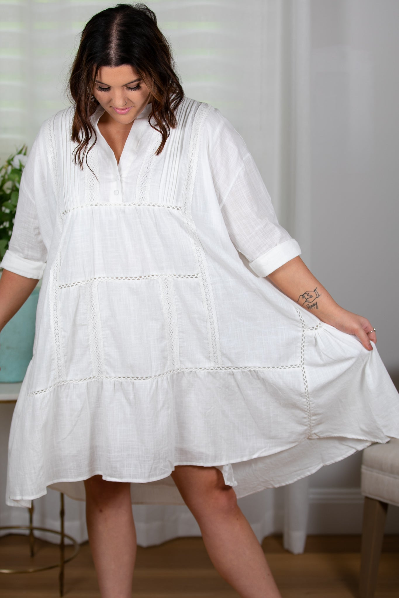 Josette Dress in White